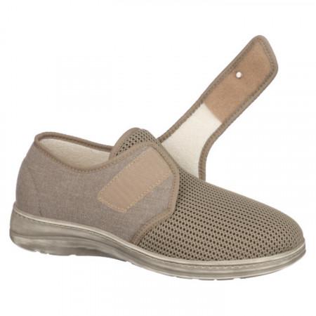 Pantofi de vara ortopedici barbati PodoWell Pierrick bej reglabili cu arici
