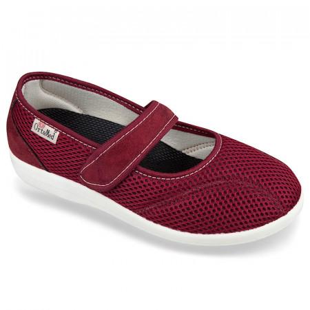 Pantofi de vara ortopedici bordo dama OrtoMed 6089-T16-T70