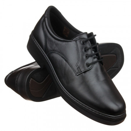 Pantofi pentru diabetici, ortopedici, piele, negri, Pinosos 5054 H