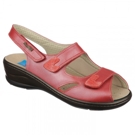 Sandale pentru monturi piele rosii PodoWell Dieppe