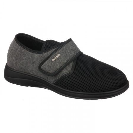 Pantofi de vara ortopedici barbati PodoWell Pierrick negru