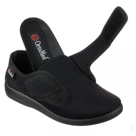 Pantofi ortopedici medicali material stretch brant detasabil OrtoMed 6013-T77