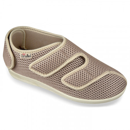 Pantofi recuperare medicala dama ortopedici ortomed 6051-T22 bej
