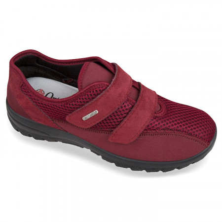 Pantofi sport ortopedici femei material stretch OrtoMed 4009-T16-T70 bordo