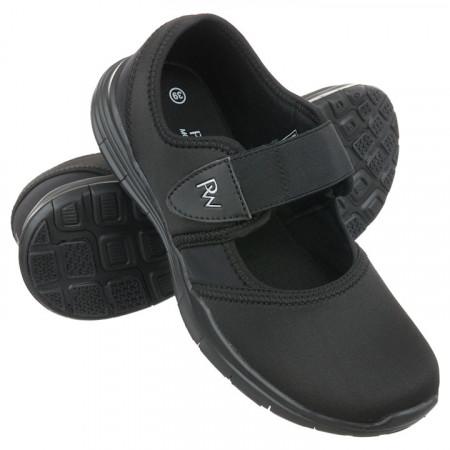 Pantofi sport ortopedici negri dama material stretch  PodoWell Valence