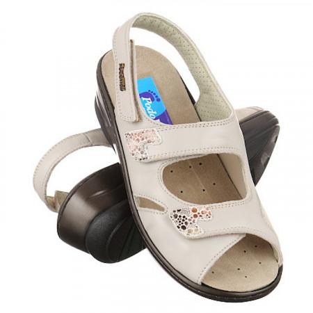Sandale pentru monturi / Hallux Valgus piele bej PodoWell Dieppe