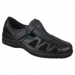 Pantofi pentru diabetici, ortopedici, piele, negri, Pinosos 7517H