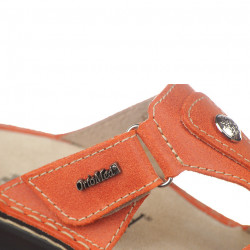 Papuci ortopedici piele oranj Ortomed 3706-P79