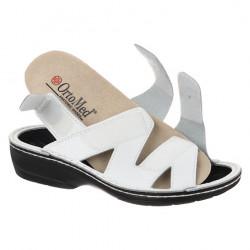 Sandale ortopedice albe piele dama OrtoMed 3705-P53