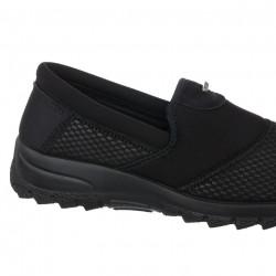 Pantofi sport ortopedici dama negri pentru monturi OrtoMed 4001-S116 detaliu