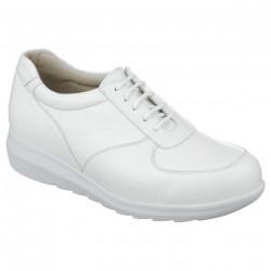 Adidasi ortopedici piele albi dama Pinosos 7673-H
