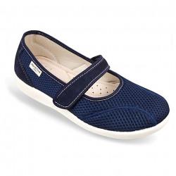 Pantofi de vara ortopedici bleumarin dama OrtoMed 6089-T99
