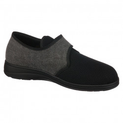 Pantofi de vara ortopedici barbati PodoWell Pierrick negru bumbac si material fagure