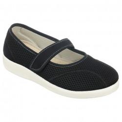 Pantofi de vara ortopedici negri dama OrtoMed 6089-T21-T44