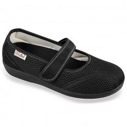 Pantofi de vara ortopedici negri dama OrtoMed 6089-T21