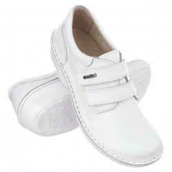 Pantofi ortopedici albi piele dama OrtoMed 3740-P53W