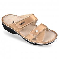 Papuci ortopedici piele naturala aurii OrtoMed 3702-P140