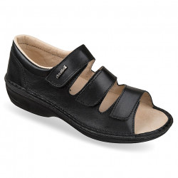 Sandale ortopedice dama piele negre OrtoMed 3727-P134