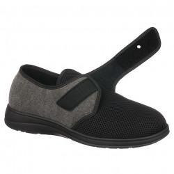 Pantofi de vara ortopedici barbati PodoWell Pierrick negru reglabili cu velcro / arici