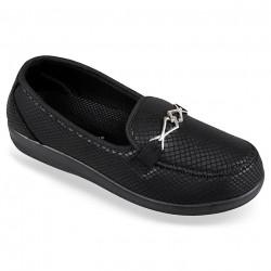 Pantofi ortopedici pentru diabetici dama OrtoMed 6037-S05 negri