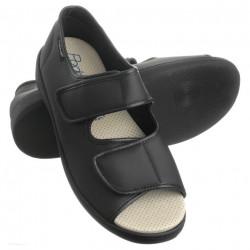 Sandale medicinale dama si barbati PodoWell Aduler negre