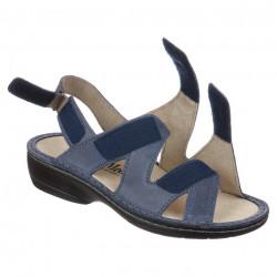 Sandale ortopedice bleumarin piele dama OrtoMed 3705-P67