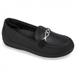Pantofi ortopedici pentru diabetici dama OrtoMed 6037-T77-S05 negri