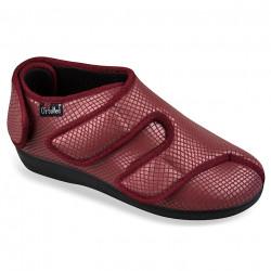 Pantofi ortopedici pentru Hallux Valgus bordo OrtoMed 6051-S06