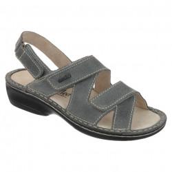 Sandale ortopedice gri piele dama OrtoMed 3705-P65