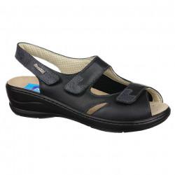 Sandale pentru Hallux Valgus, piele, negre, dama, PodoWell Delphine