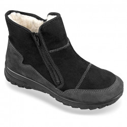 Ghete ortopedice imblanite cu lana, pentru femei, Mjartan 4501-TS44, negre
