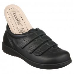Pantofi pentru diabetici, ortopedici, piele, negri, PodoWell Aquitaine
