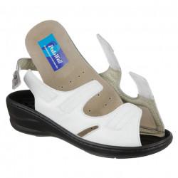 Sandale pentru monturi / Hallux Valgus piele albe dama PodoWell Damas