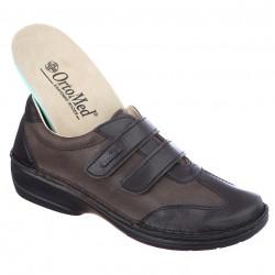 Pantofi ortopedici maro piele dama OrtoMed 3742-P154