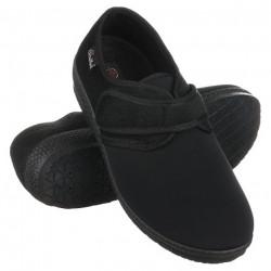 Pantofi ortopedici medicali stretch barbatesti OrtoMed 670-T77 negri