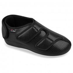 Pantofi ortopedici pentru monturi / Hallux Valgus negri OrtoMed 6051-S05