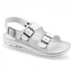 Sandale ortopedice albe pentru femei si barbati OrtoMed 3002-3009-P03