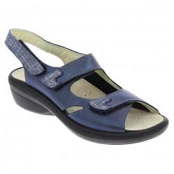Sandale pentru monturi / Hallux Valgus piele femei PodoWell Damia bleumarin