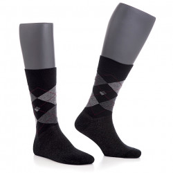 Sosete Comfort Silver CSS201 negre cu carouri