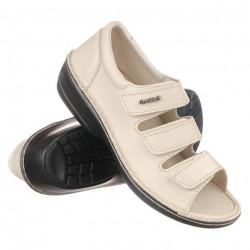 Pantofi decupati piele dama reglabili OrtoMed 3727-P133