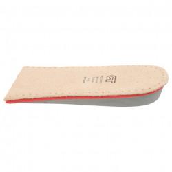 Talonete inaltatoare de 1.5 cm, piele naturala, cu spuma cu memorie