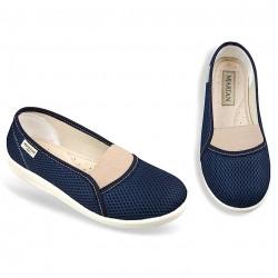 Pantofi ortopedici de vara bleumarin dama materla fagure OrtoMed 6087-T99