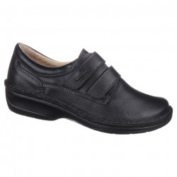 Pantofi ortopedici piele negri dama OrtoMed 3740-P134