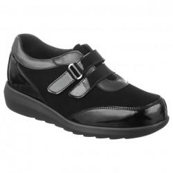 Pantofi ortopedici sport piele negri dama Pinosos 7670H