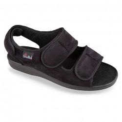 Sandale ortopedice pentru diabetici OrtoMed 526-T44 negre