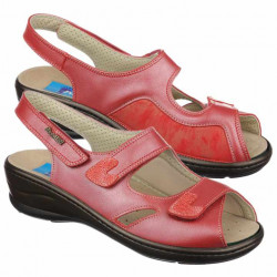 Sandale pentru Hallux Valgus piele rosii PodoWell Dieppe