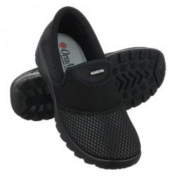 Pantofi sport ortopedici dama negri pentru monturi OrtoMed 4001-S116