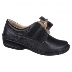 Pantofi ortopedici negri dama pentru plantari OrtoMed-3740-P134 regabili
