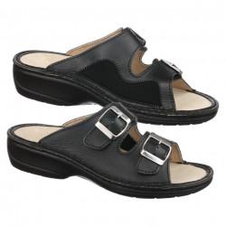 Papuci piele naturala pentru monturi / Hallux Valgus Ortomed 3718-P134 negri