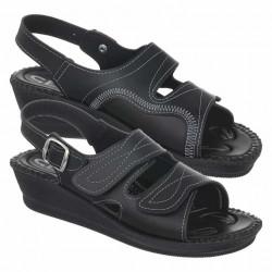 Sandale pentru monturi / Hallux Valgus negre dama Mjartan 2815-P02